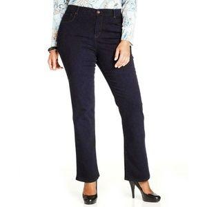 Women's Plus Tummy Control Mid Rise Boot Cut Jeans